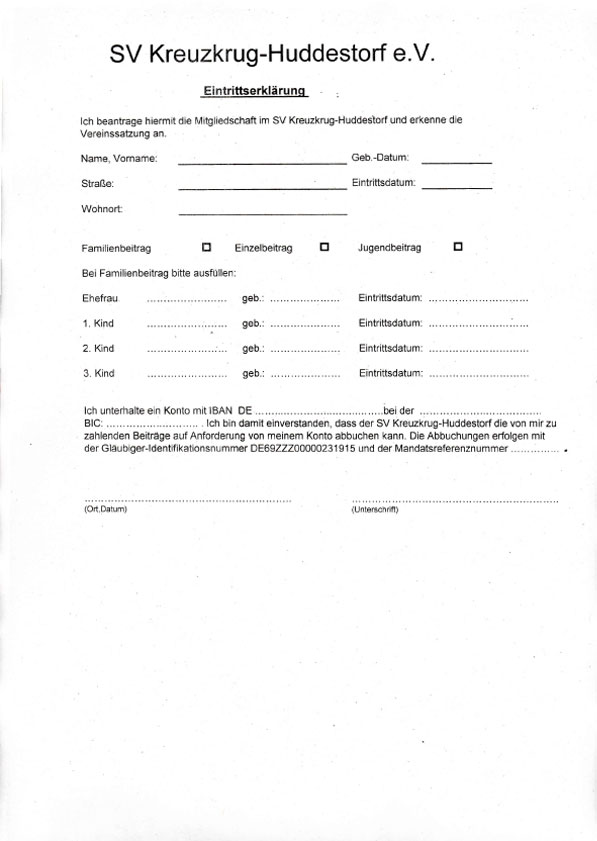 Beitrittserklärung