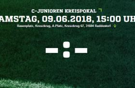 Kreispokal-Halbfinale der C-Junioren am Samstag in Kreuzkrug